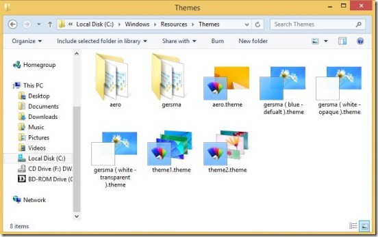Windows 8 Customization - pasting themes in resources folder
