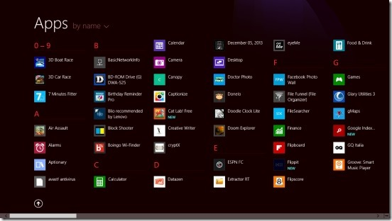Windows 8 tutorial - Apps View