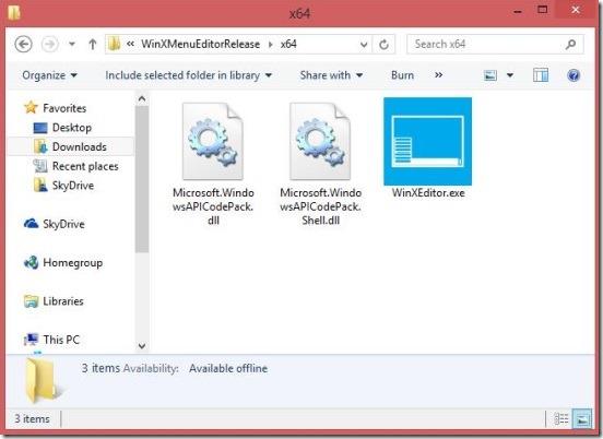 Winsows 8 tutorial - Win X Menu Editor exe file