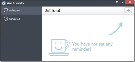 Wise Reminder-task reminder software-interface