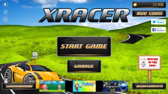 XRacer- Main Menu