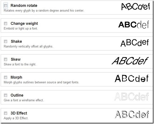 font Punk-online font editor-add effects