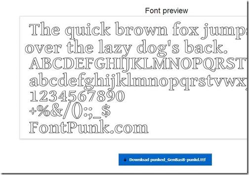 font Punk-online font editor-download font file