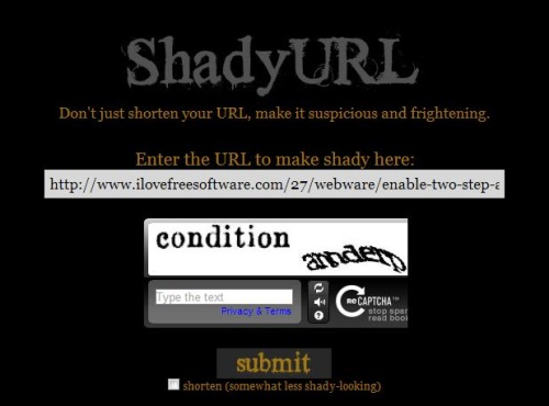 shadyurl enter link