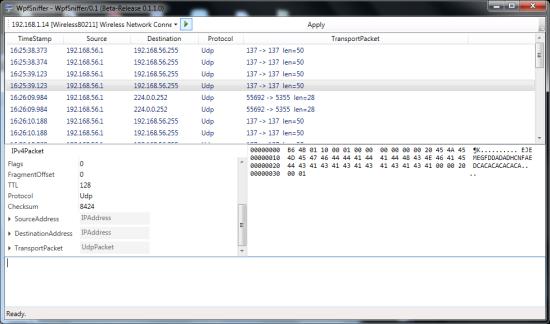 Free Windows Packet Sniffer - WPFSniffer