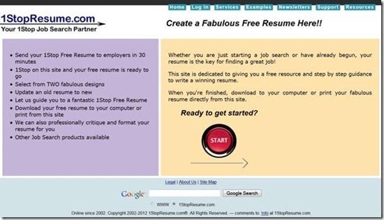 5 Free Online Resume Builder