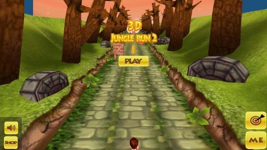3D Jungle Run- Main screen