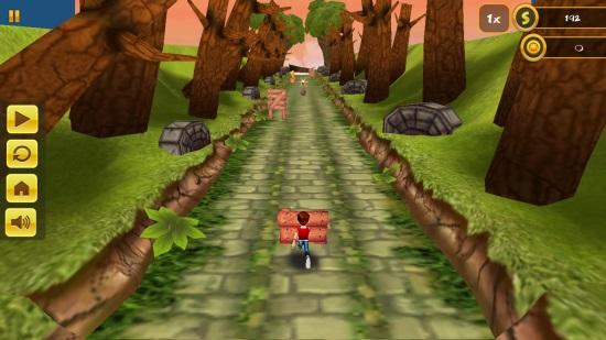 3D Jungle Run- Pause