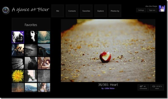 A glance at Flickr - favorites