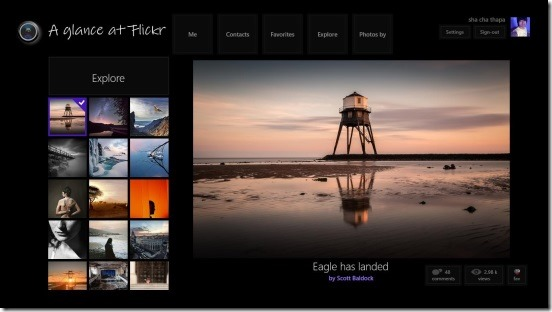 A glance at Flickr - today's explore photos