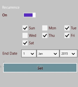 ActiveNote- Reminder for recurring task