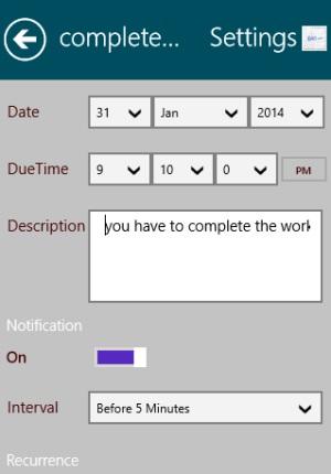 ActiveNote- Set Task