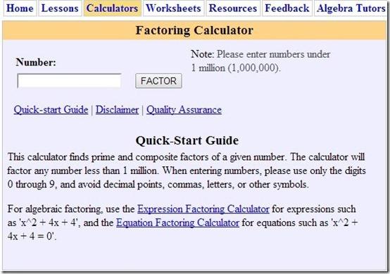 Algebrahelp-learn algebra-home page