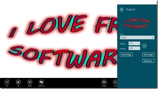 Art Text Lite - saving