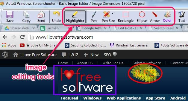 AutoIt Windows Screenshooter- image editing tools