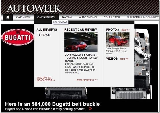 Autoweek-car websites-home page