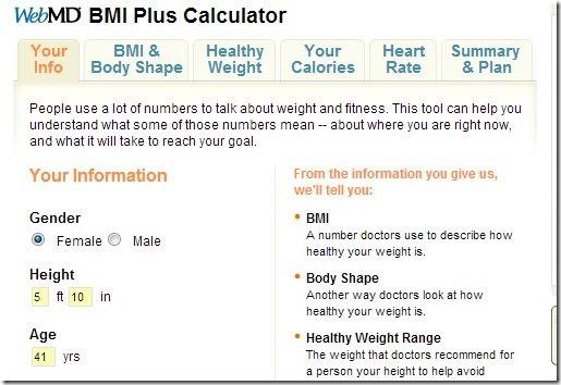 BMI Plus Calculator