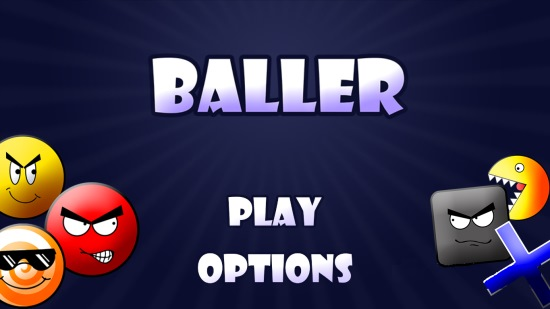 Baller- Main menu screen