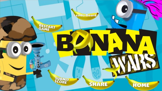 Banana Wars- Main menu