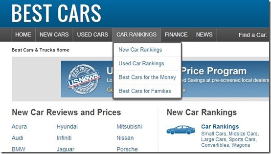 Best Cars-car websites-home page