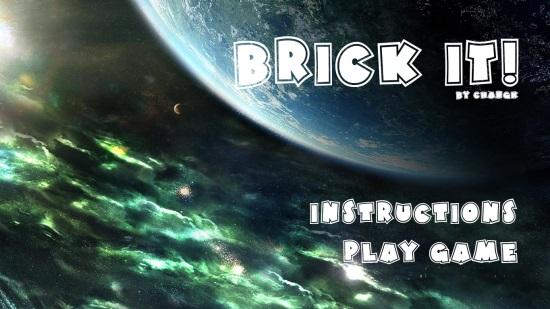 Brick it!- Main Screen