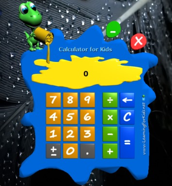Calculator for Kids- interface