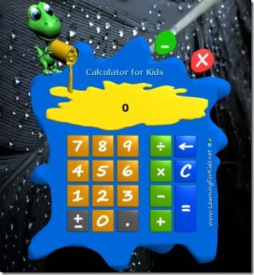 Calculator for Kids-kids calculator-interface