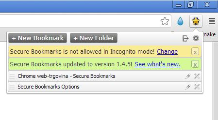 Chrome bookmark extensions secure bookmarks