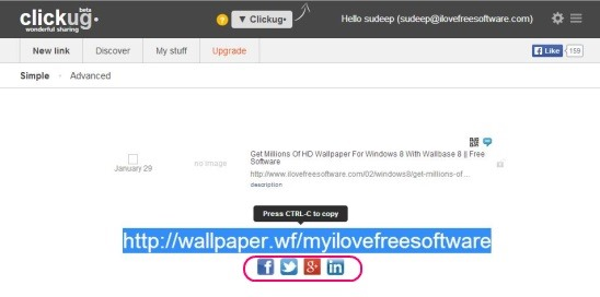Online URL Shortener to Provide Custom Text For URL, See Click Stats