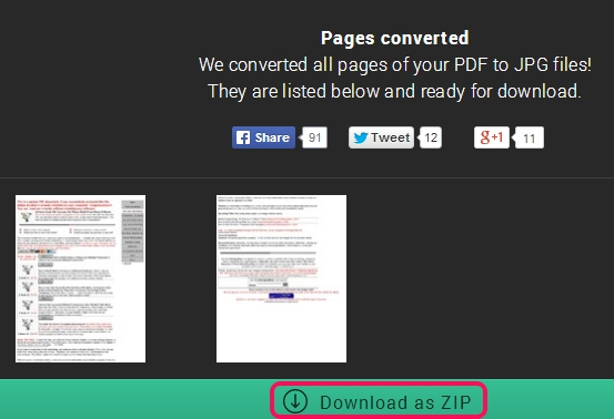 Convert PDF to JPG Online- download extracted images