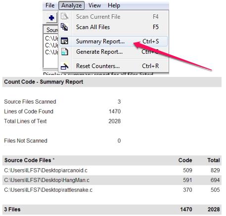 Count Lines of Code - Count Code - Generate Report