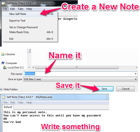 Create Encrypted Notes - Self Note - Create Encrypted Notes