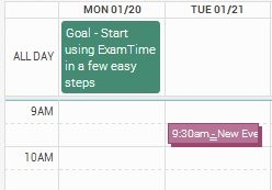Create time table-icon