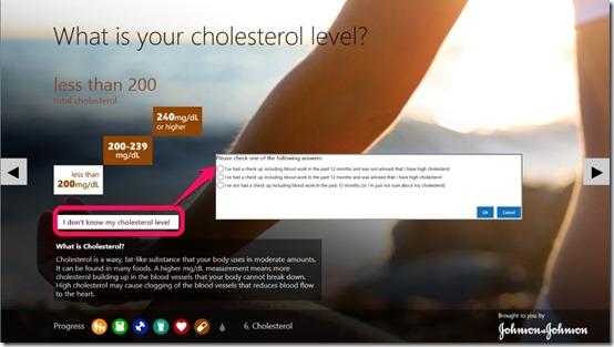Digital Health Scorecard- Cholestrol