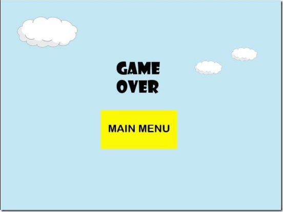 Doodle Ball - game over