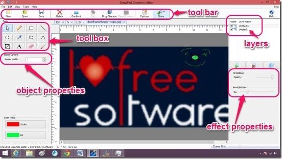 DrawPad Graphics Editor