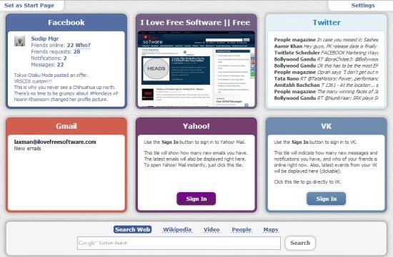 Favepad- change homepage of browser