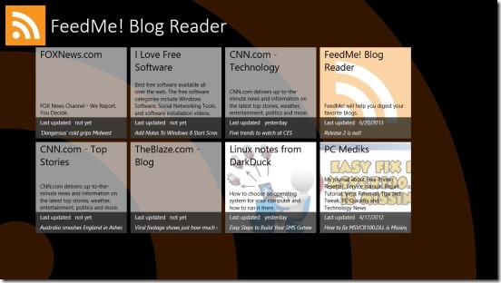 FeedMe! Blog Reader - feeds sources