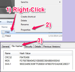 File Checksum Tool For Windows - HashTab - How to use