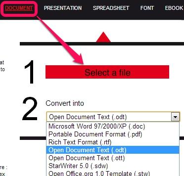 Files-conversion- convert a document