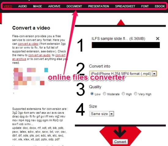 Filesconversion- online files converter