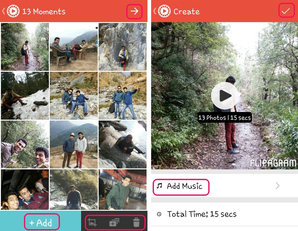 Convert Photos to Videos, Add Music with Free Flipagram for