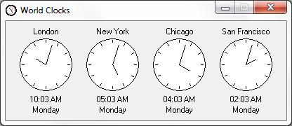 Free Calendar Application for Windows - Calendar 2000 - World Clock