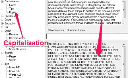 Free Text Manipulation Tool - Text Inspection & Manipulation - Capitalisation