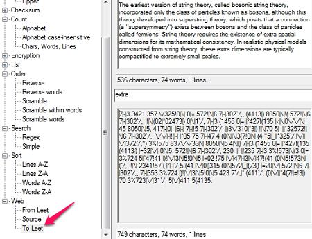 Free Text Manipulation Tool - Text Inspection & Manipulation - Leet (1337)