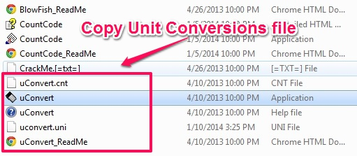 Free Unit ConversionsTool - Unit Conversions - Copy the files to make it portable