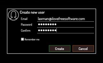 Fylet- create an account