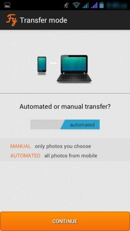 Fylet- select a transfer mode