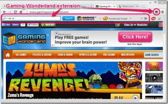 GamingWonderland - extension
