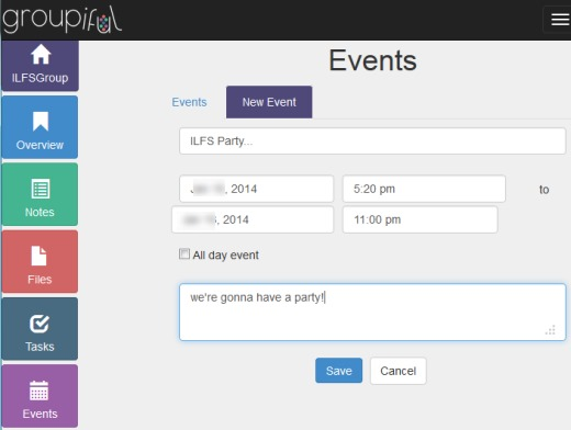 Groupiful- create events